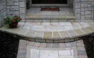 Natural Stone Hardscape Porch