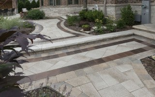 Brick-Paving,-Path-Arounf-The-House,-Glenview-Hardscaping-Project