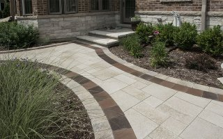 Brick Paving, Back Door, Glenview Hardscaping Project