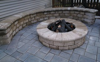 Natural Stone, Hardscaping Project firepit