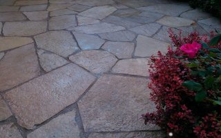Natural Stone, Hardscaping Project walkway