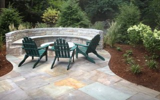 Natural Stone, Hardscaping Project patio