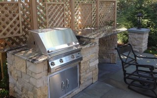 Outdoor Kitchen, Natural Stone